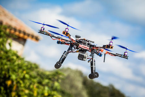 The LightAir system allows users to direct drones with one touch of a foot. Source: Vostock-Photo