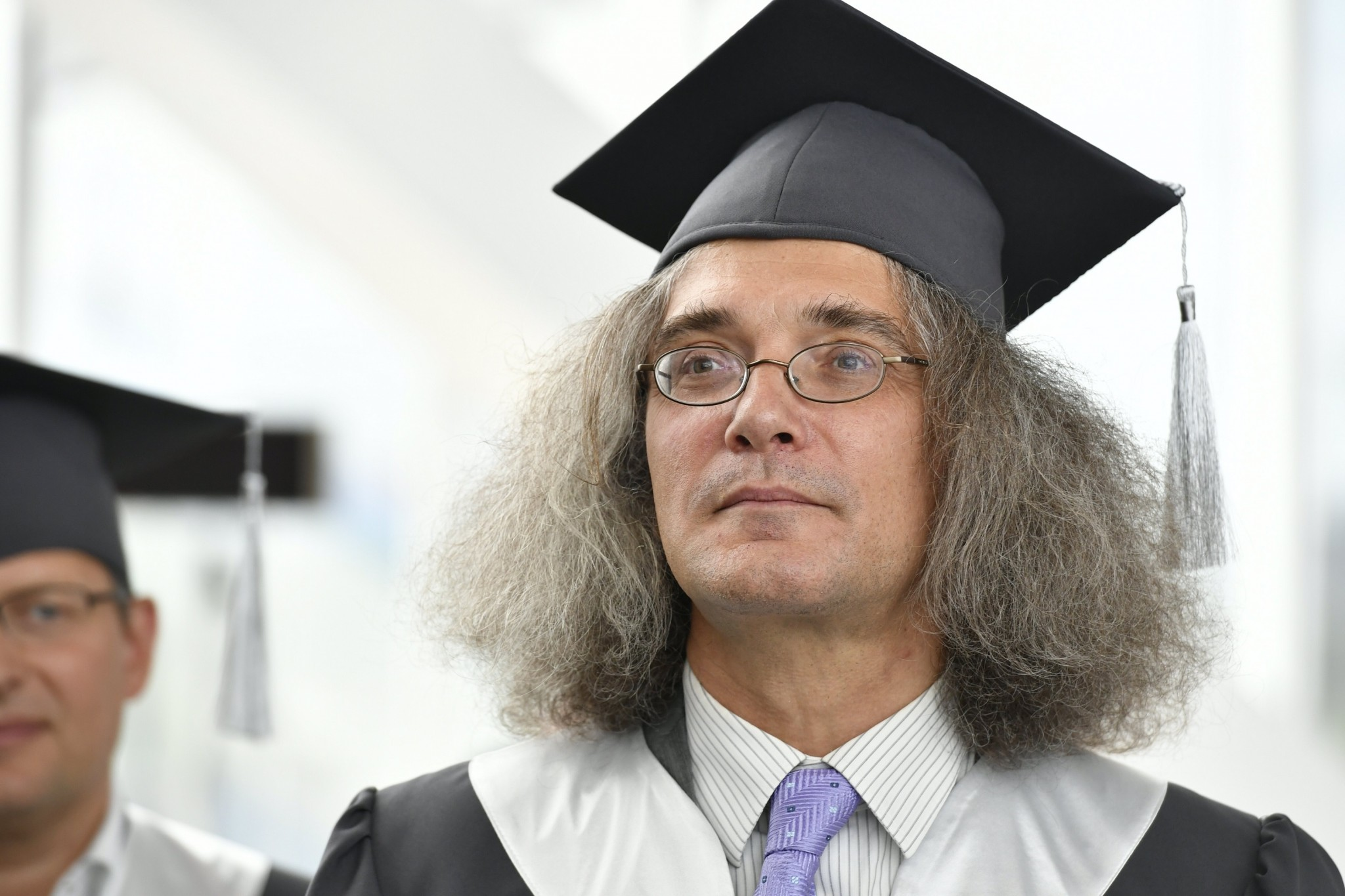 Professor Severinov pictured during the graduation ceremony. Photo: Skoltech