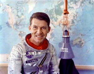 US astronaut Wally Schirra, whose Apollo 7 mission culminated in a legendary case of crew-ground disconnect. Photo: NASA // Wikimedia Commons.