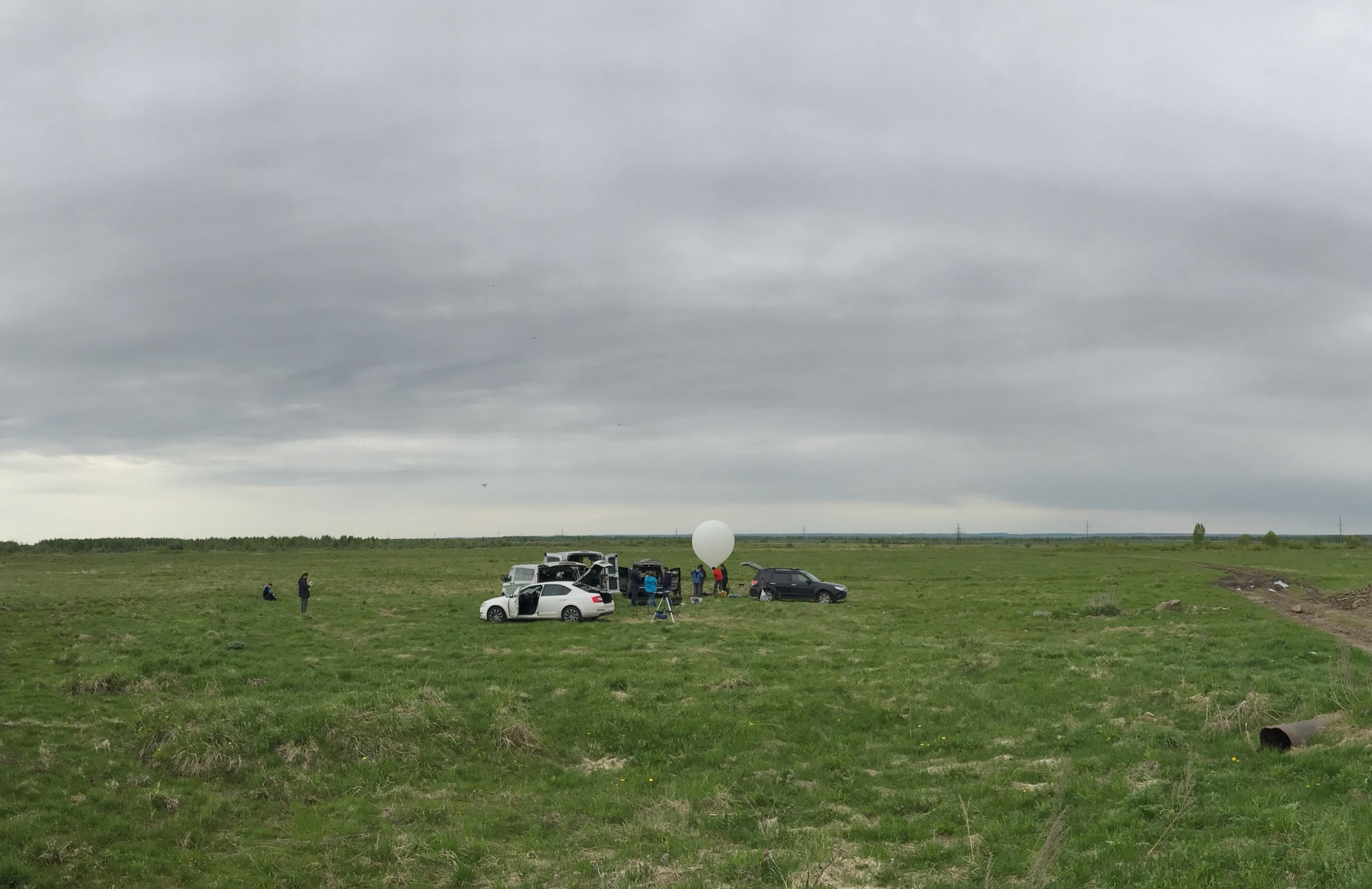 A desolate field in the Yaroslav Region served as the unlikely launch point for two Skoltech stratospheric balloon missions. Photo: Skoltech.