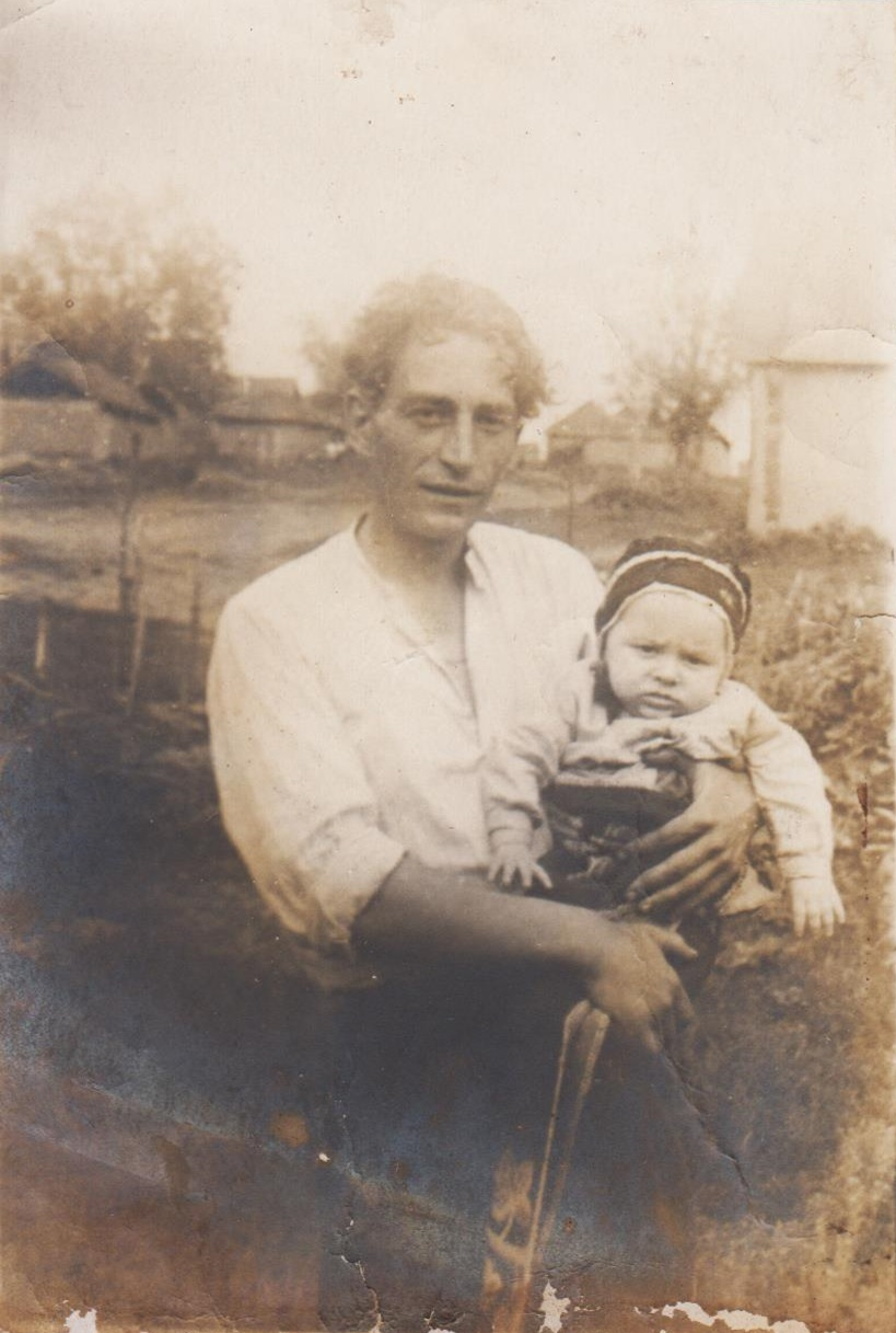 Nikolaev as a baby with his father, shortly before his father's second imprisonment. Photo: Evgeny Nikolaev.