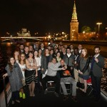 Attendees of the seventh annual German-Russian Week of the Young Researcher take a boat tour through central Moscow. Photo: Skoltech.