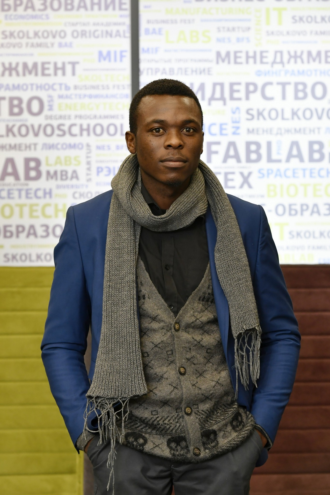 Maviza pictured shortly after his arrival at Skoltech. Photo: Skoltech.