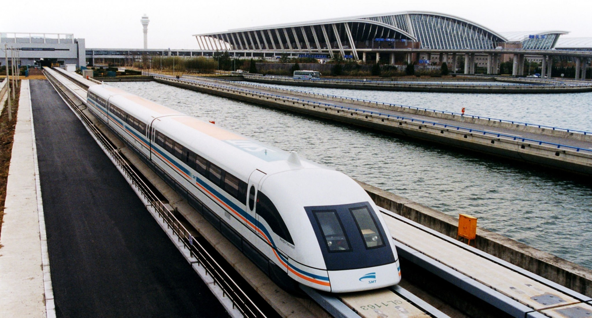A magnetic levitating train in Shanghai. Crystallographic research could help spread this innovative form of transportation to countries around the globe. Photo: Skoltech.