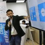 Andrey Zaika, head of Skoltech's Platform Development Group, speaks at an event honoring the new partnership on Saturday. Photo: Skoltech.