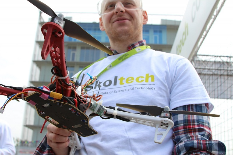 Nikita Rodichenko and his self built, self designed quadrocopter