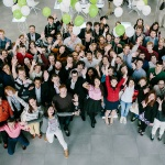 Graduate students in science and tech celebrating the opening of the acadmeic year on the 1st of September 2014 at Skoltech