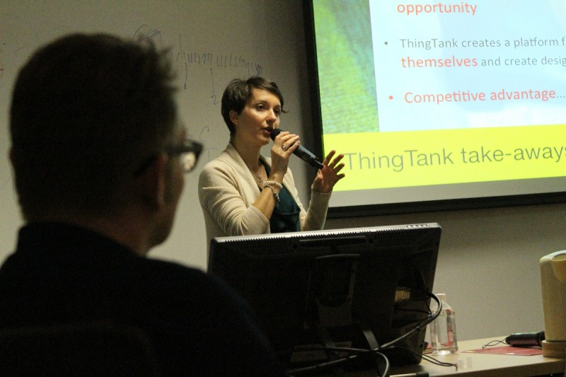 """Prof Elisa Giaccardi , TU DELFT at Skoltech: """". Thing tank creates a platforms for products and services to reinvent themselves"""""""