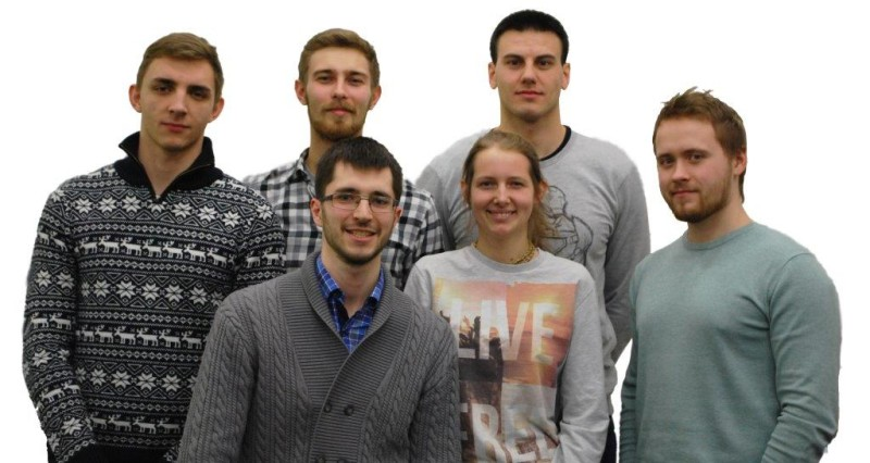 Skoltech team members (from left to right): Top row: Alexander Petrovsky, Shipitko Oleg, Marko Simic. Bottom row: Sergey Golovanov, Zhenya Yuryeva, Alexey Postnikov.