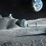 Radiation shelters for residents of the Moon Village are planned to be made from lunar resources. Photo: ESA.