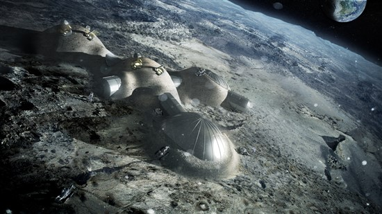 The Moon Village structures will be made using 3D-printing technology, the ESA head expects. Photo: ESA.