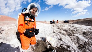 Divya Shankar at the Martian Desert Research Station in Utah.