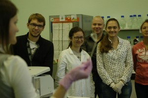 Мария Соколова со студентами