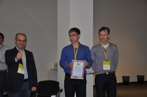 The winners of Skolkovo Foundation prize with Albert Efimov