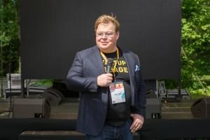 Finnish entrepreneur Pekka Viljakainen pictured last week at the Startup Village at Skolkovo. Photo: Sk.ru.