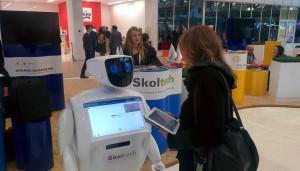 Skoltech stand at the Skolkovo Education Hub zone.