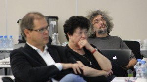 Sstem Biology Program Expert Board (right to left): Konstantin Severinov, Dalia Cohen and Manuel Peitsch.