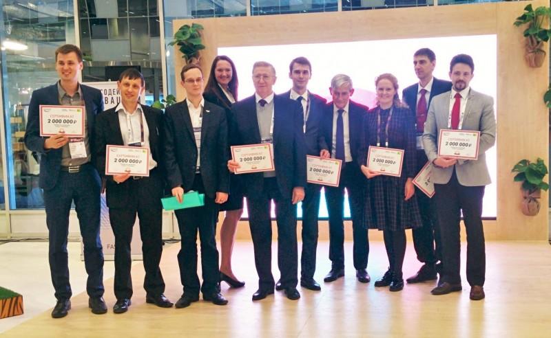 """Winners of the Program """"Start at Skolkovo""""."""