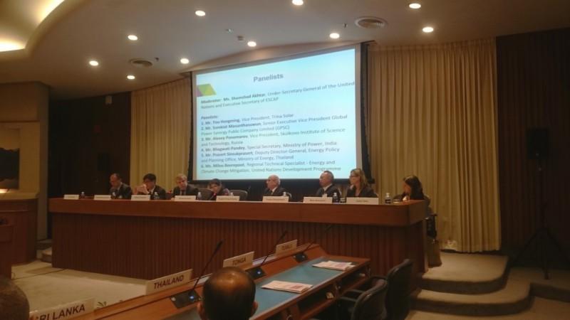 A. Ponomarev delivering his presentation at the session.