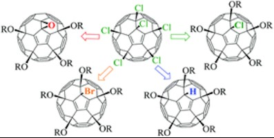 Figure 1: Four groups of functional C-O derivatives of fullerene (C60) synthesized from C60Cl6