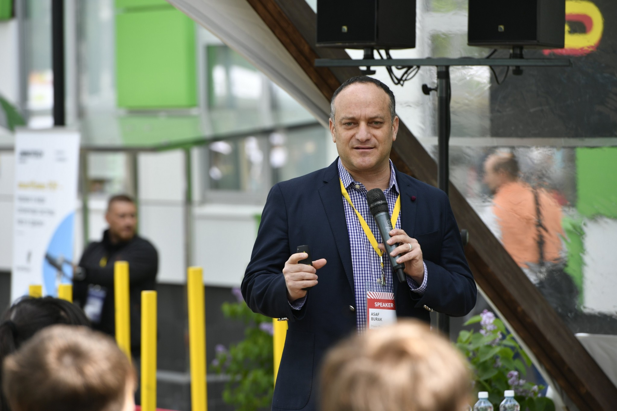 Game Enders President and Power Play CEO Asi Burak speaks during a panel on the launch of the Skoltech Esports Academy.