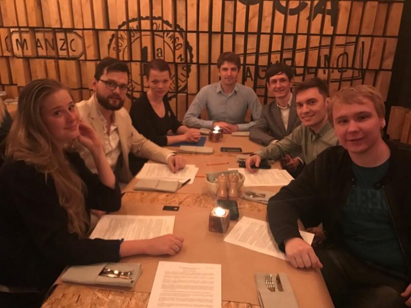 From left: Anna Dubovik, Dmitry Smirnov, Julia Bogomolova (Predstavitel LLC), Dmitry Vasiliev, Alexander Vidiborsky, Viacheslav Sabirov and Vladimir Frolov.