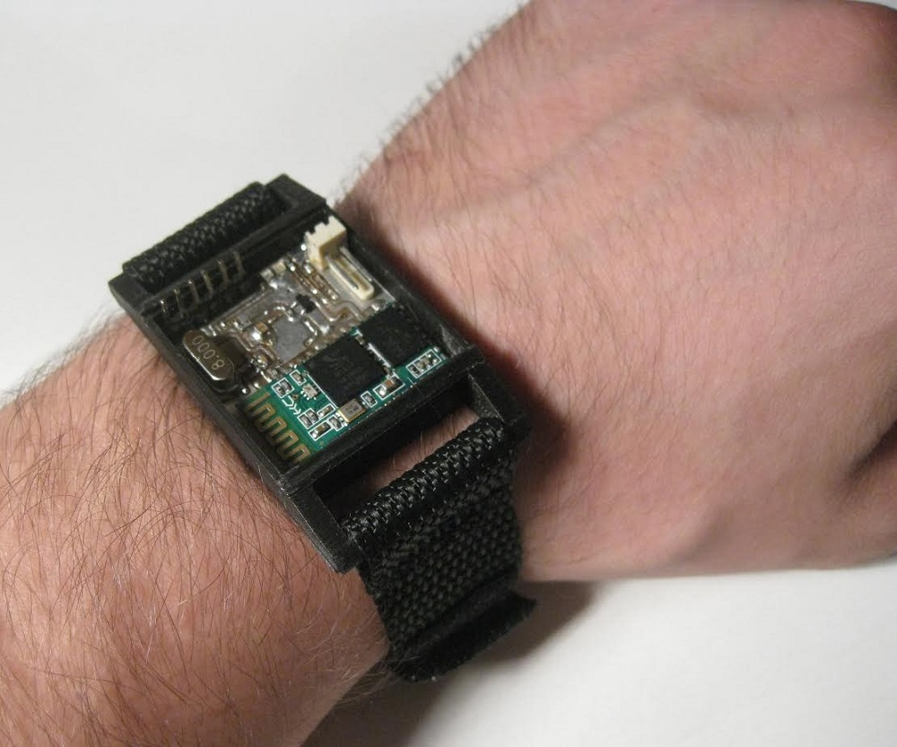 The wristband prototype in its current form. The inTouch team expects to have a fully functioning prototype by the end of 2017.