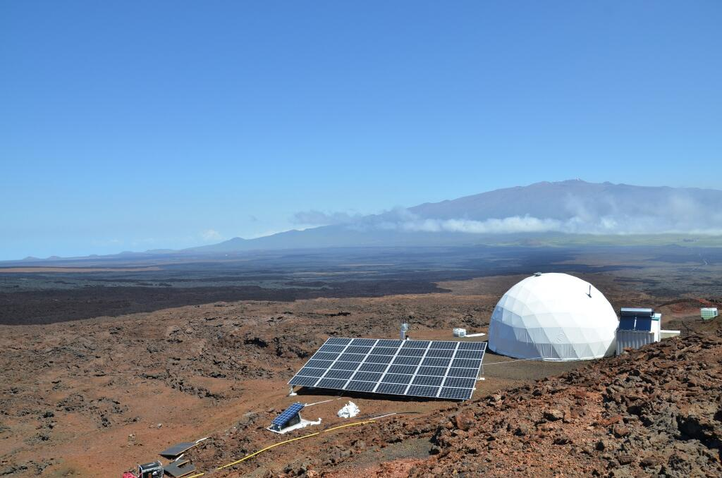 The HI-SEAS habitat, a research station on a Mars-like territory on Hawaii's Mauna Loa volcano where specialists study the ability of the human brain to adapt to deep space travel and life on Mars. Photo: HI-SEAS.