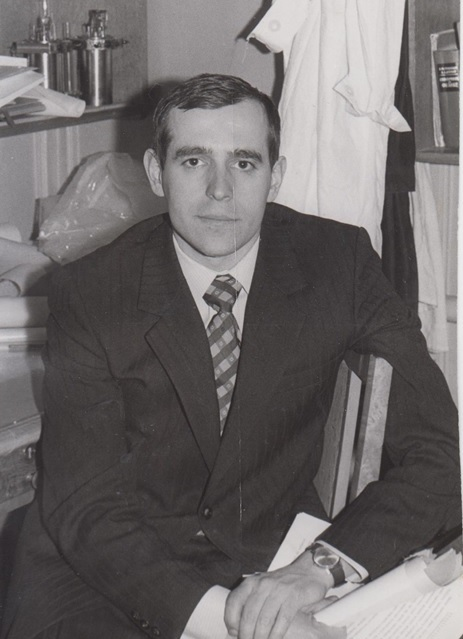 Nikolaev pictured around 1974, when he received his PhD. Photo: Evgeny Nikolaev.