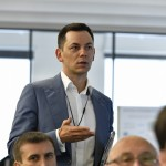 Dr. Sergey Morozov says a few words during the CoBrain Seminar. Photo: Skoltech.