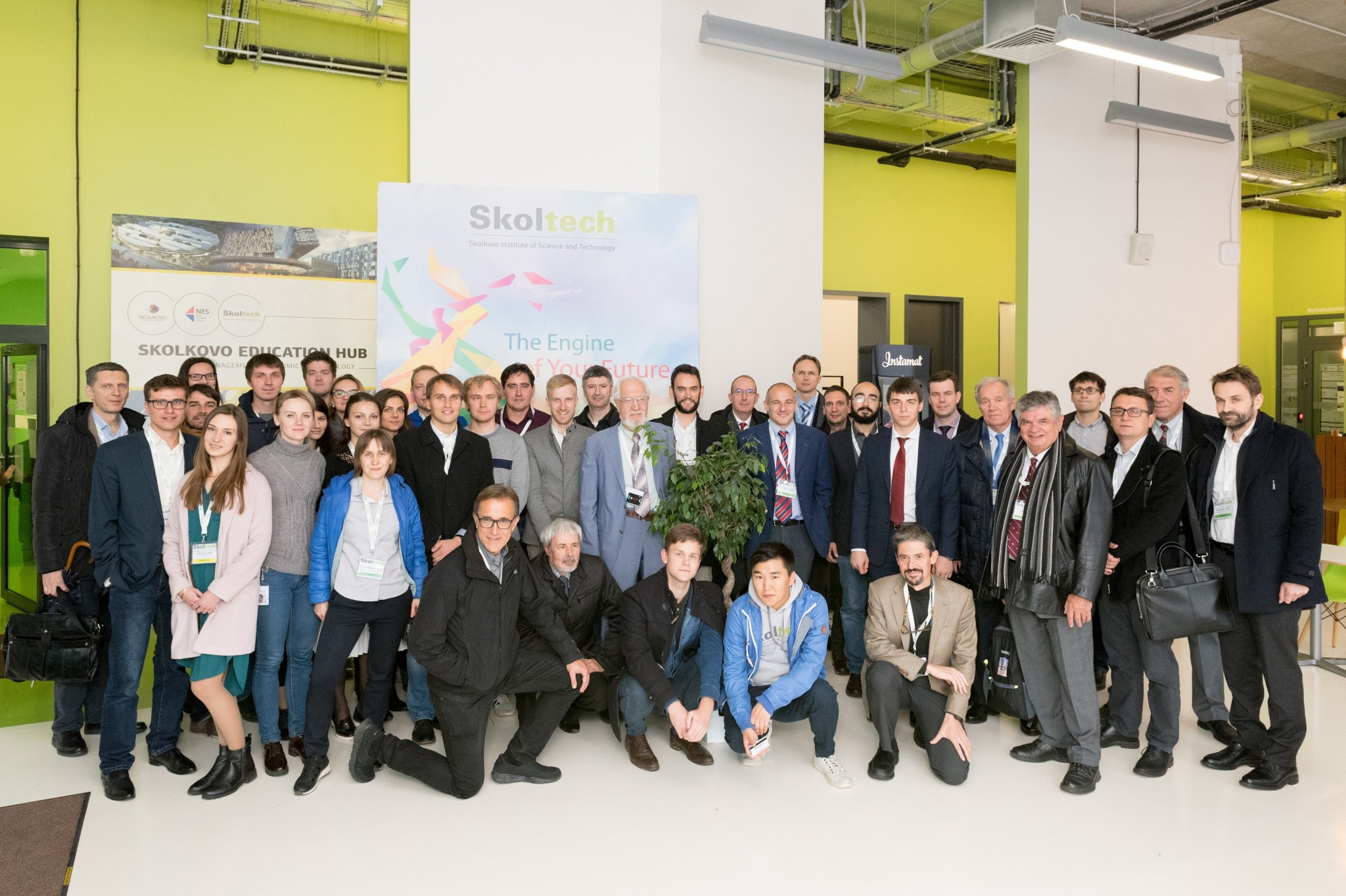 Dozens of energy systems experts from around the world pictured at Skoltech. Photo: Skoltech.