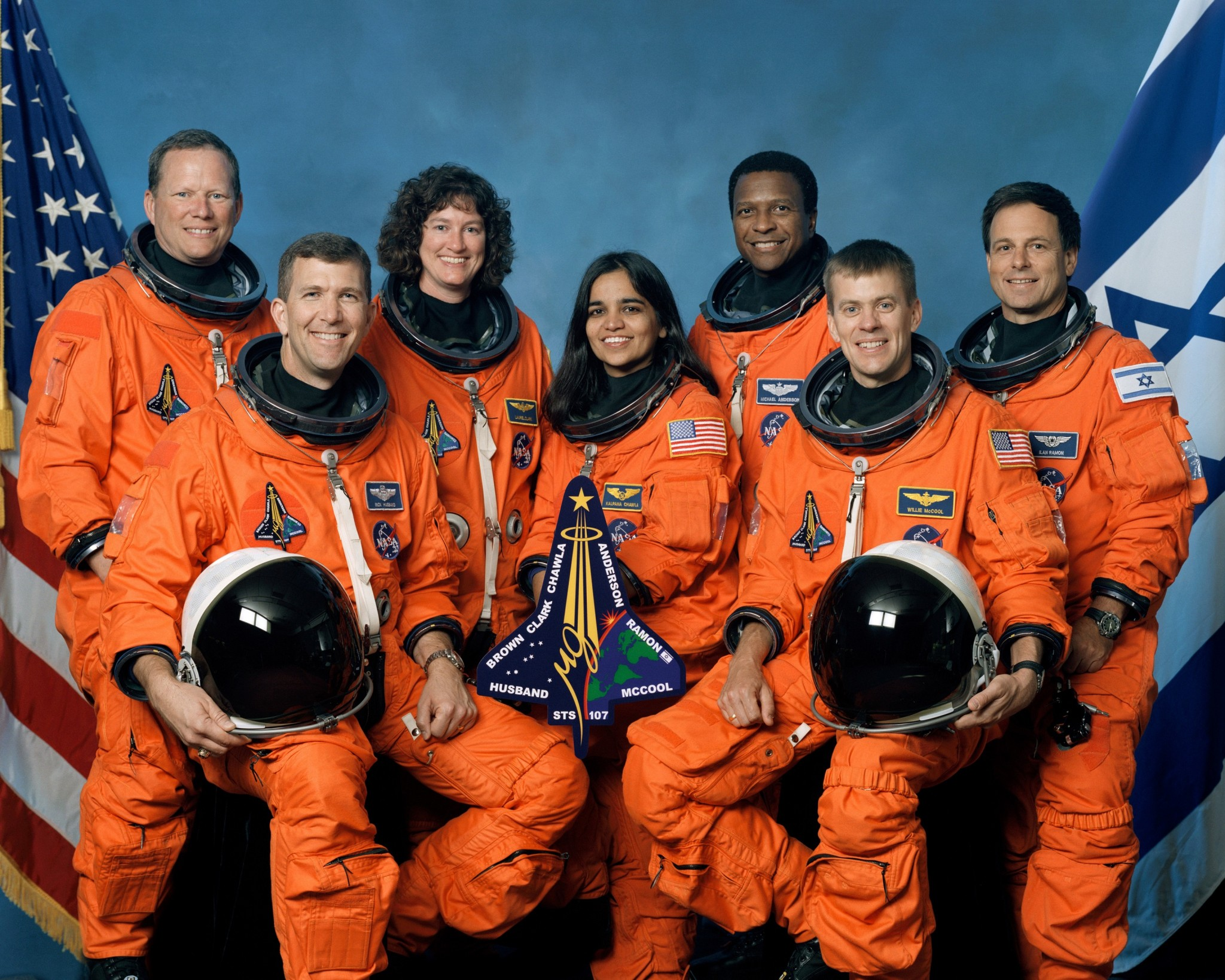Dr. Kalpana Chawla (center), pictured with her crewmates from the ill-fated Space Shuttle Columbia mission, was a major source of inspiration for Santra. Photo: NASA.