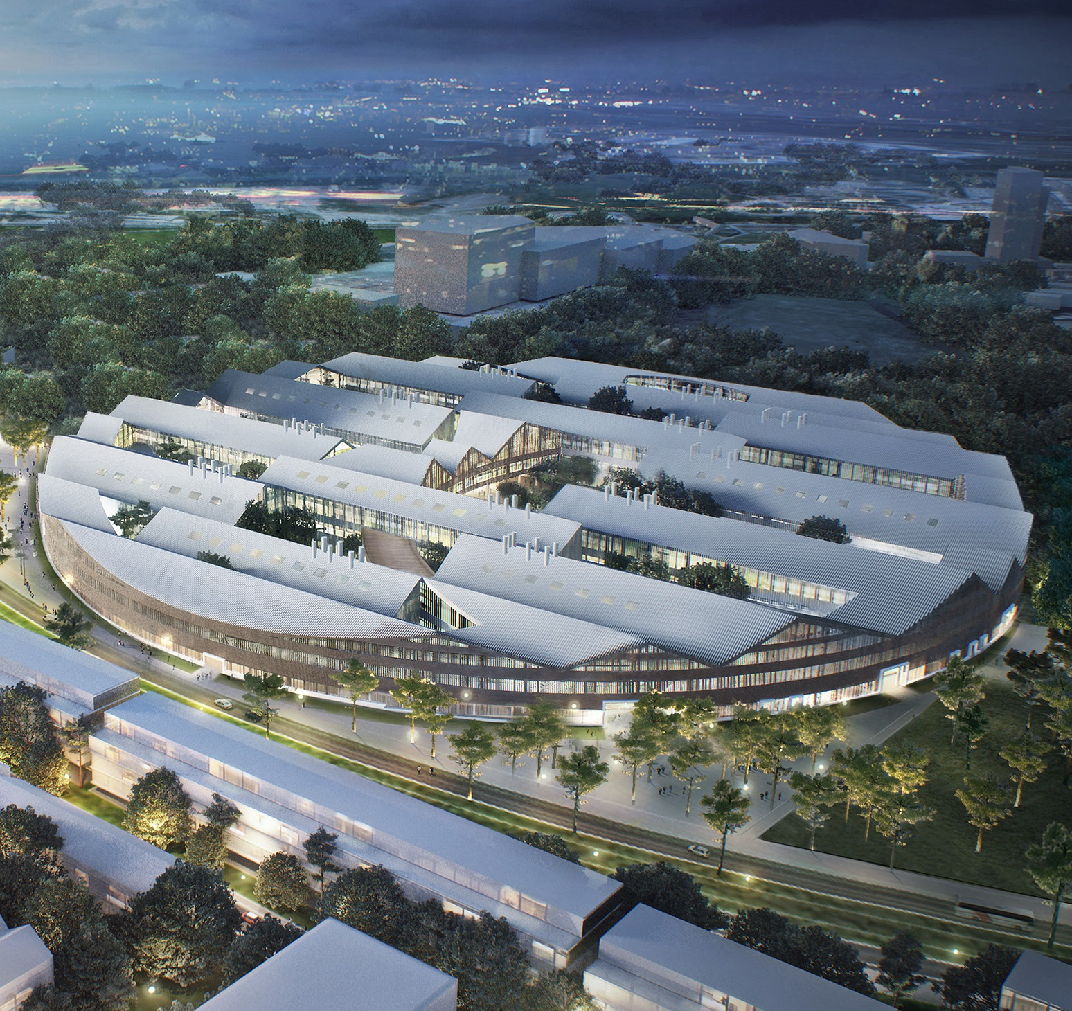 An artistic rendering of Skoltech's new state-of-the-art campus, set to open in 2018. Image: Skoltech.