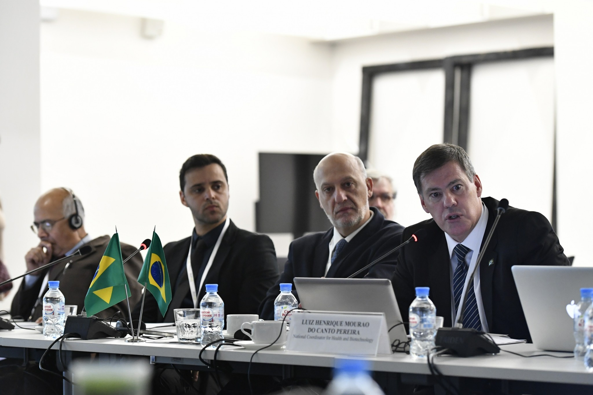 Members of the Brazilian delagation, including Dr. Luiz Henrique Mourão do Canto Pereira (right). Photo: Skoltech.