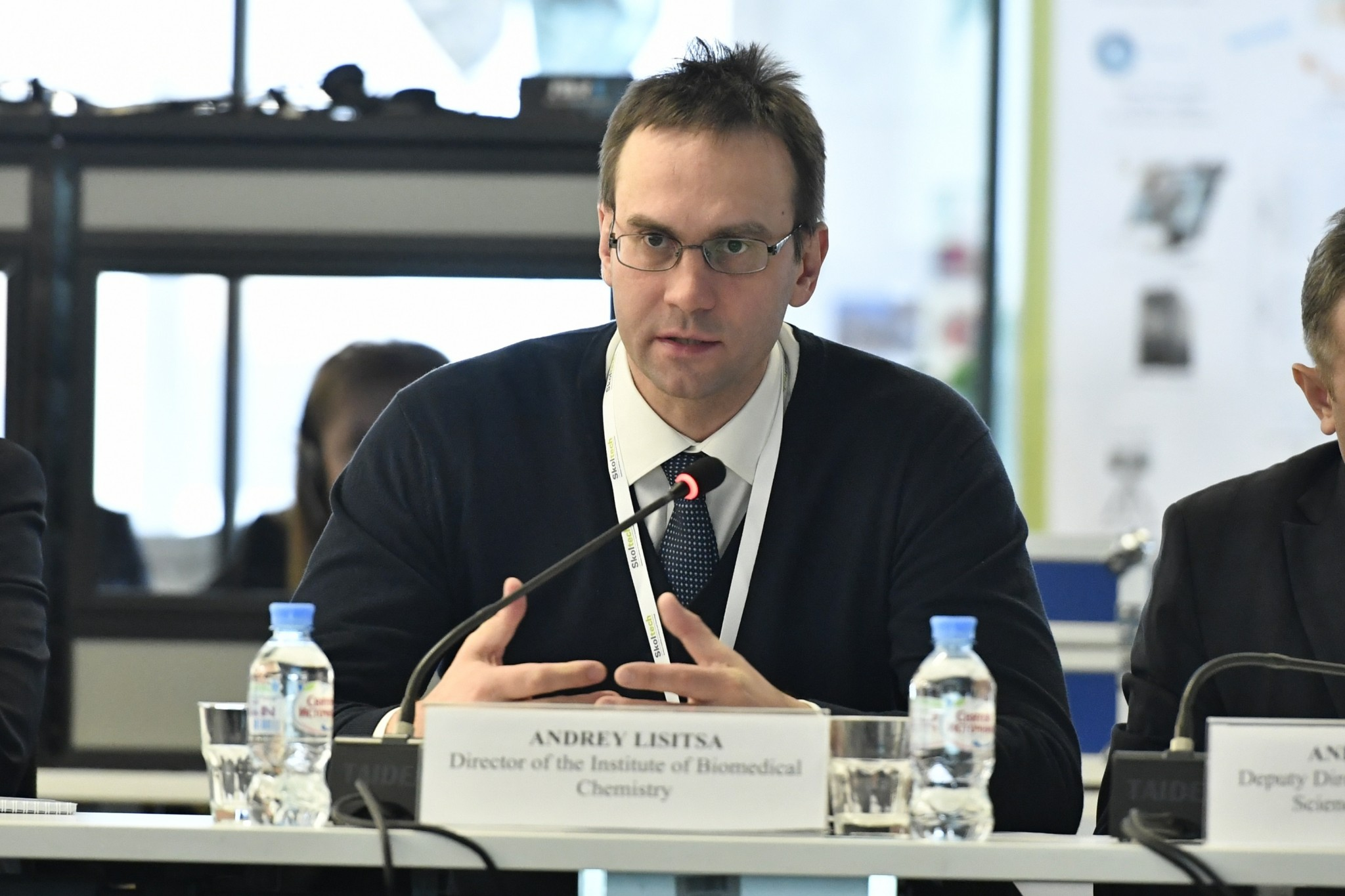 Dr. Andrey Lisitsa of the Russian delegation. Photo: Skoltech.
