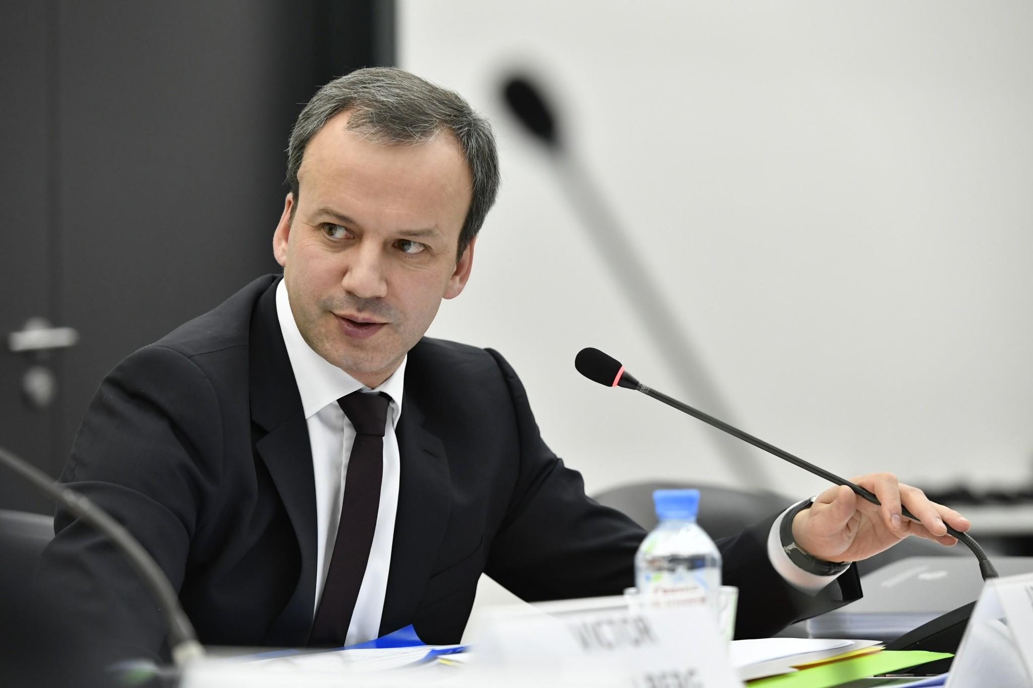 Russian Deputy Prime Minister Arkady Dvorkovich chairs the 27th Skoltech Board of Trustees meeting. Photo: Skoltech.