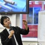 Professor Kenjiro Tadakuma of Tohoku University in Japan delivers a guest lecture at Skoltech. Photo: Skoltech.