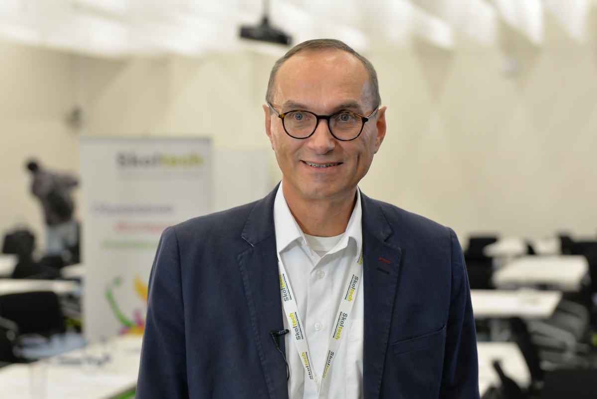 The Skolkovo Foundation's vice president for science and education, Nikolai Suetin. Photo: Sk.ru.