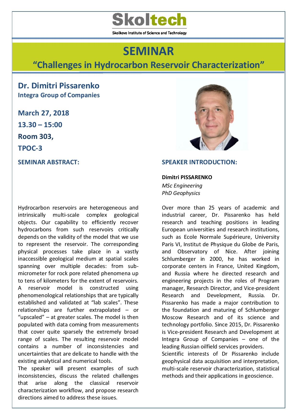 seminar-challenges-in-hydrocarbon-reservoir-characterization