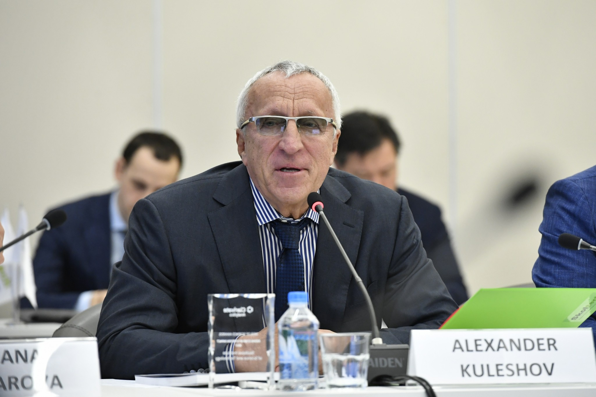Alexander Kuleshov, pictured at a recent meeting of the Skoltech Board of Trustees. Photo: Skoltech.
