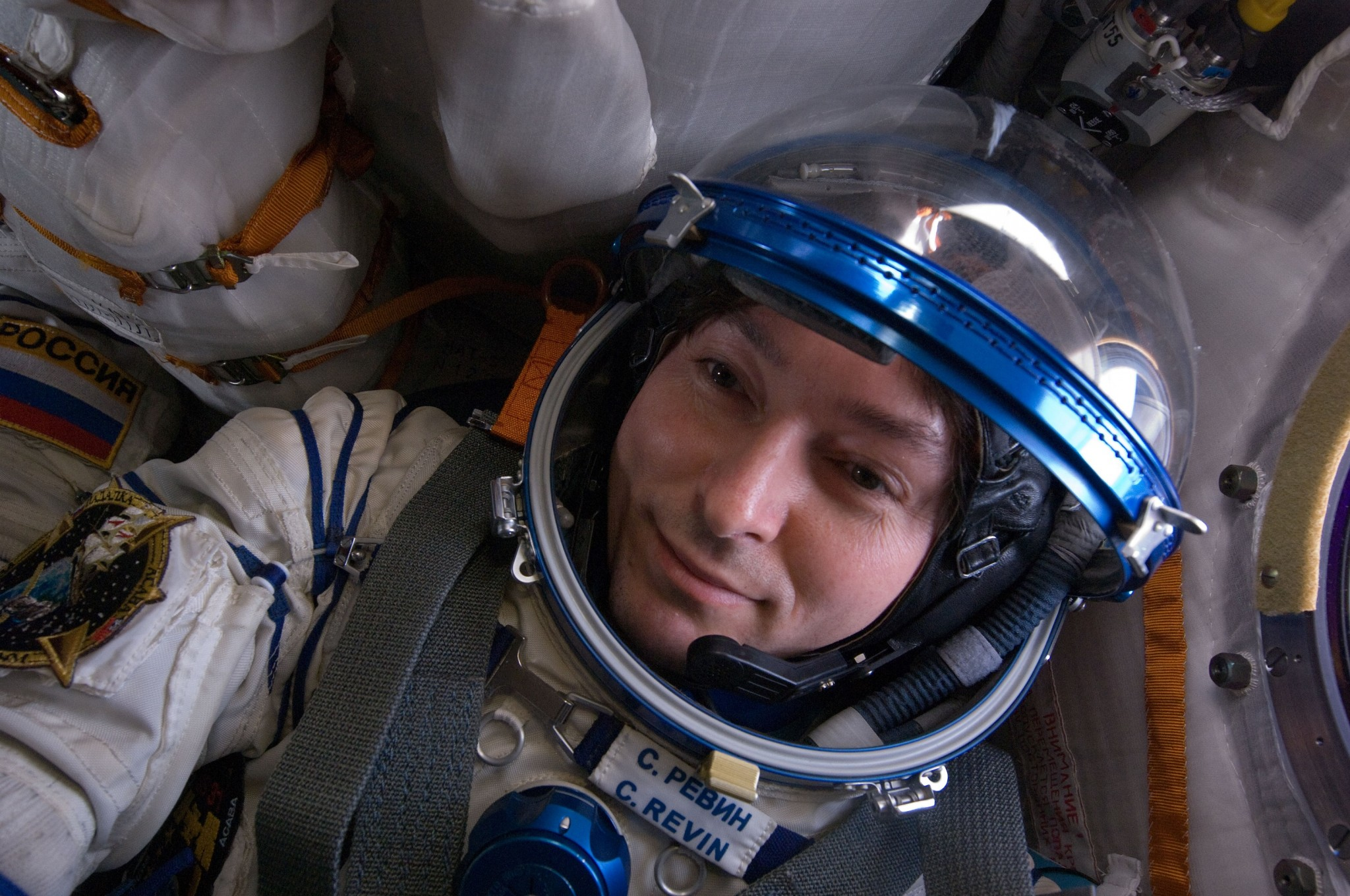 Cosmonaut Sergey Revin pictured in Soyuz 30. Photo: NASA.