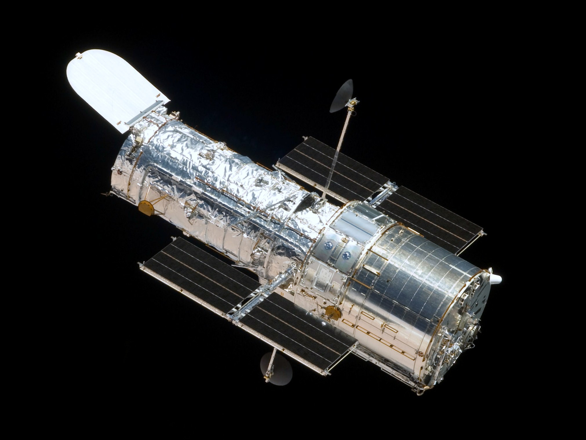 The Hubble Space Telescope, pictured in 2009. Photo: NASA.