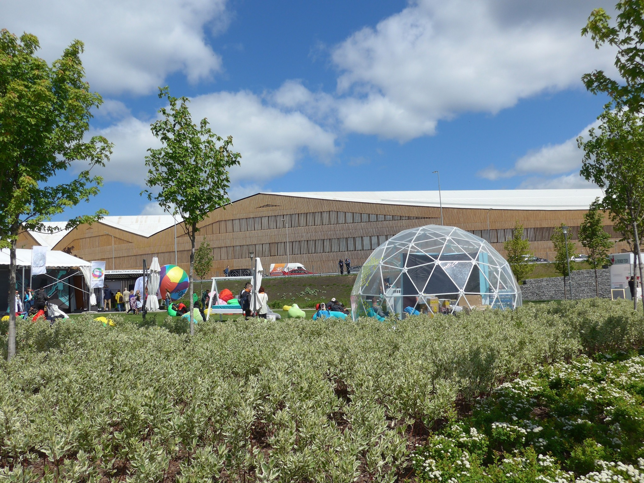 The new Skoltech campus was omnipresent during the two-day Skolkovo Startup Village event. Photo: Skoltech.