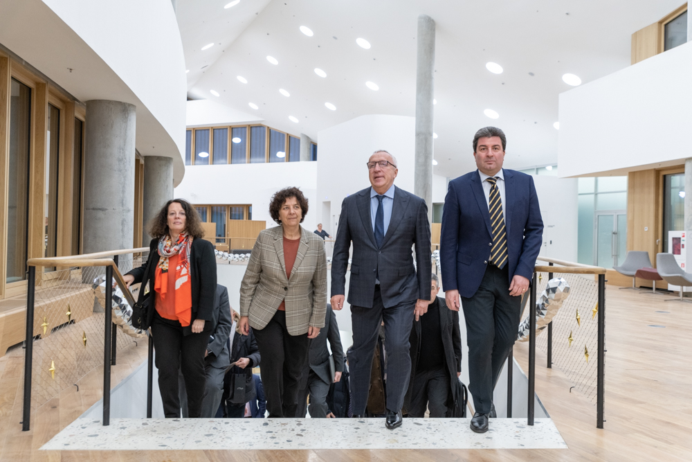 Ambassador of the French Republic to Russia, Sylvie Bermann France's Minister of Higher Education, Research and Innovation, Frédérique Vidal,  President of Skoltech, Alexander Kuleshov,  Vice President for Communications and Community Development, Alexey Sitnikov