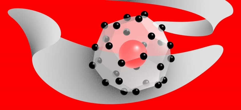 "Illustration. Cerium superhydride, a ""forbidden"" compound. Credit: @tsarcyanide/MIPT Press Office"