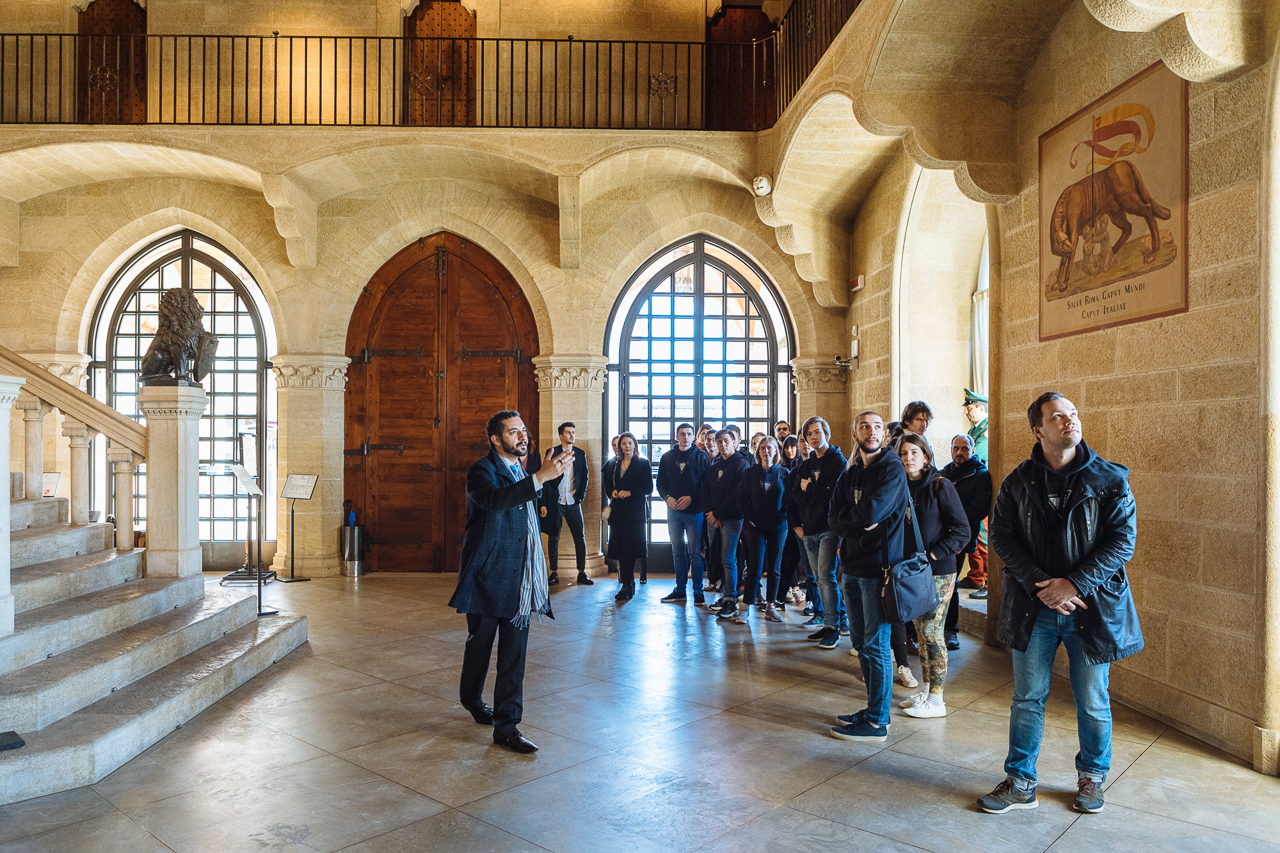 Exploring the parliament of the Republic of San Marino (Skoltech students and Nuland team)