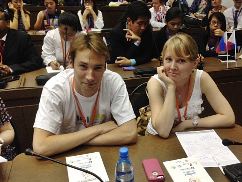 Yulia Rybakova and Dmitry Ghilarov at ISSF 2014.