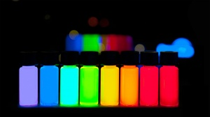 Quantom dots emit hoighly stable colors. image courtesy of wikipedia