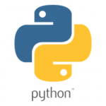 The python language logo. Image courtesy of tuplware.cs.brown.edu