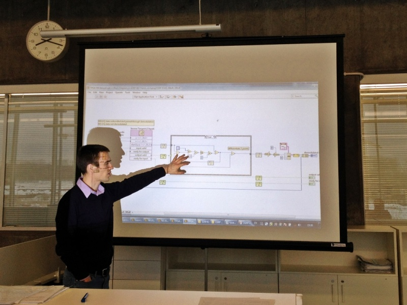 "Some ISP activities involve experts and professionals from outside of Skoltech. In this photo, a National Instruments engineer teaches at a masterclass on ""Prototyping of Software Defined Radio Systems""."